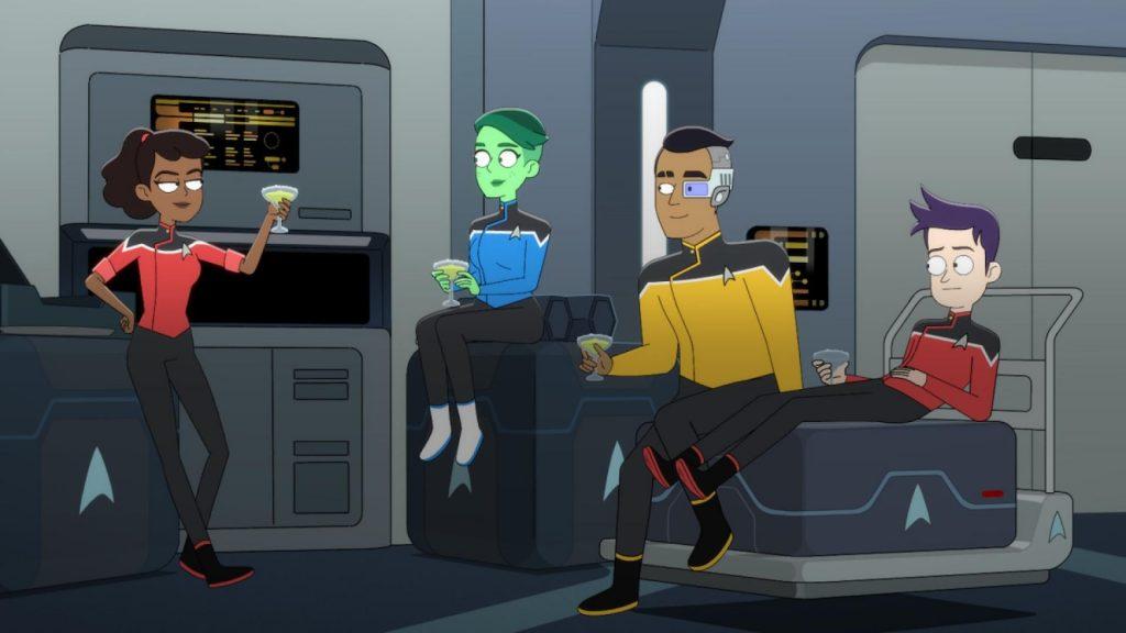 The ensigns of Star Trek Lower Decks