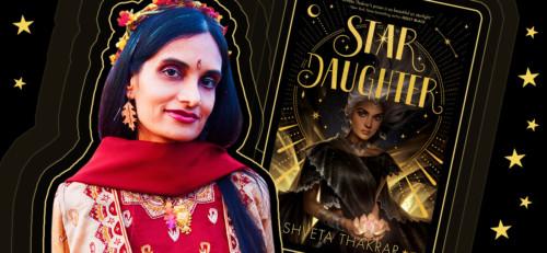 Shveta Thakrar with the cover of her book, Star Daughter