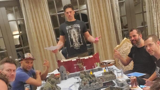 Joe Manganiello playing D&D with friends.
