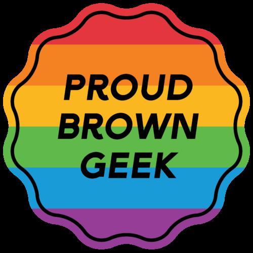 Proud Brown Geek rainbow sticker